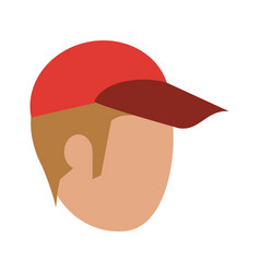 Man faceless with hat vector