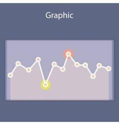 Minimalistic progressive diagramscheme vector