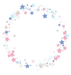 Multicolored falling stars of confetti vector