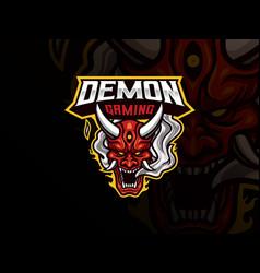oni demon mascot sport logo design vector image
