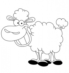 outlined sheep vector image