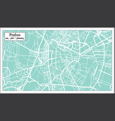 Padua italy city map in retro style outline map vector