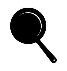 Pan frying kitchen utensil icon vector