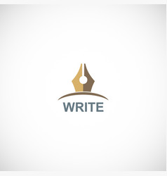 pen write publisher logo vector image