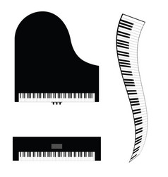 Piano and synthesizer vector