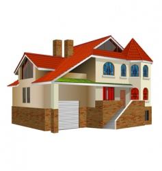 Private residence vector