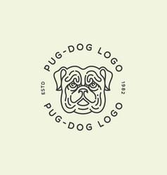 Pug dog logo vector