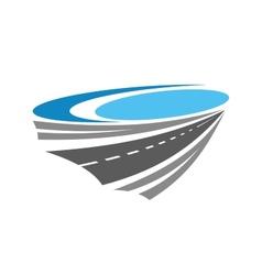 Road or highway color icon vector image