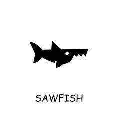 Sawfish flat icon vector