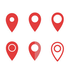 set map pointer signs map pin icons vector image