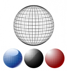 set of colored globes vector image
