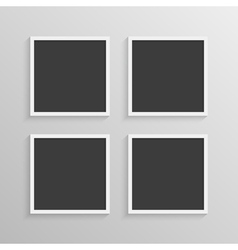 Set of frames with a simple design vector image