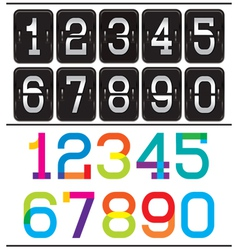 set of two sets of numbers for advertising and web vector image