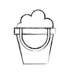 Sketch draw sand jar cartoon vector
