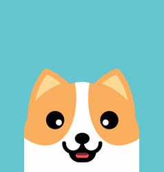 Smiling dog face flat design vector