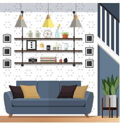 stylish living room decorating designs vector image
