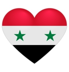 Syria Flag Heart Syrian flag icon in shape of vector