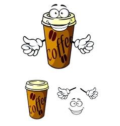 Takeaway cup coffee vector