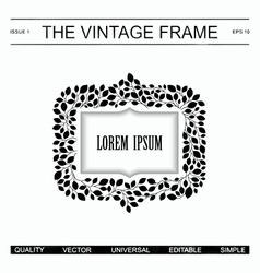 The vintage frame template vector image