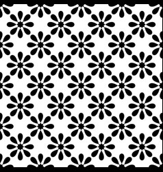 tile black and white pattern for decoration vector image