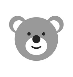 Toy face a bear flat objects isolated on a vector