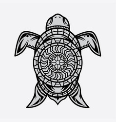 Turtle polynesian tattoo vector