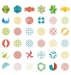 Universal spherical logos business abstract icons vector image vector image