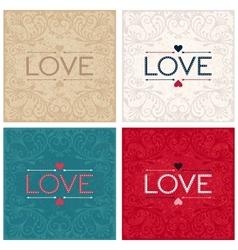 Vintage lettering design word LOVE vector