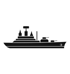 Warship icon simple style vector