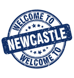 Welcome to newcastle blue round vintage stamp vector
