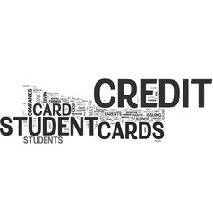 With student credit cards try to impress the vector
