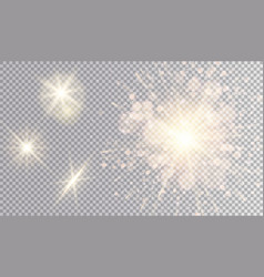 yellow lights set vector image