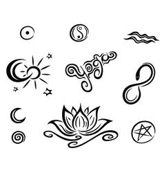 Yoga design elements vector image