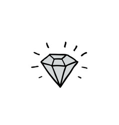 diamond doodle icon vector image