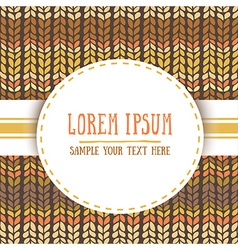 seamless patterns with knitted stripes texture and vector image