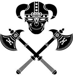 skull of the warrior vector image vector image