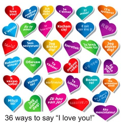 36 ways to say i love you vector image