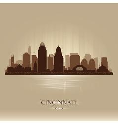 Cincinnati ohio city skyline silhouette vector