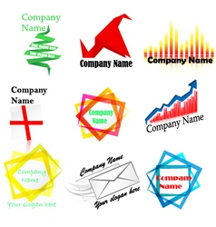 company name and logo vector image vector image