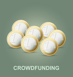 Crowdfunding concept new business model vector