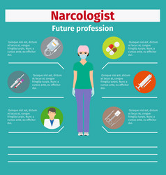 future profession narcologist infographic vector image vector image