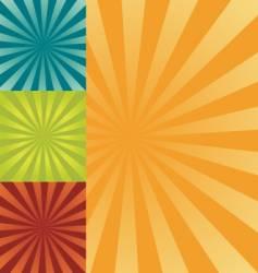 retro burst background vector image vector image