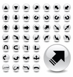 arrow icons vector image vector image