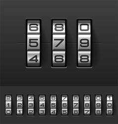 Combination code lock numbers vector image vector image