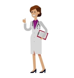 detailed doctor character woman vector image vector image