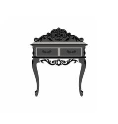Elegant commode table vector