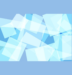 light blue square abstract background vector image vector image