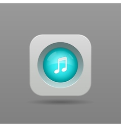 Music note button vector image vector image
