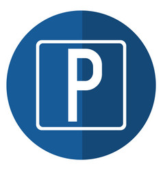 parking sign road street vehicle shadow vector image