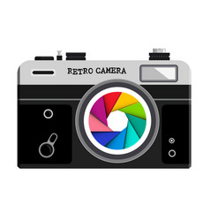 retro film photo camera vector image
